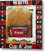 Warm Cup Of Joe Original Painting Madart Metal Print