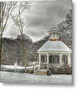 Warm Gazebo On A Cold Day Metal Print