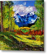 Warm Mountain Valley Plein Air Metal Print by David Lloyd Glover