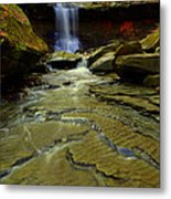 Warm Sky Cool Water Metal Print by Frozen in Time Fine Art Photography