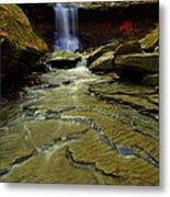 Warm Sky Cool Water Metal Print