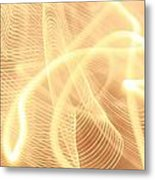 Warm Strings Of Glowing Light Metal Print