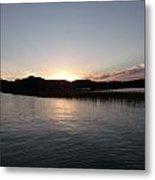 Warm Sunshine Lake Metal Print