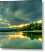 Warren Lake At Sunset Metal Print