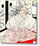Warrior Kiyomori 1882 Metal Print