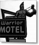 Warrior Motel Metal Print