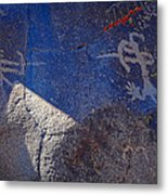 Warrior Petroglyph Metal Print