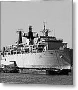Warship Hms Bulwark Metal Print
