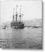 Warship Kaiser On Which Kaiser Wilhelm II Of Germany Came To Istanbul Metal Print