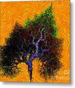 Was A Crooked Tree  Grunge Art Metal Print