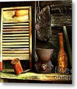 Washboard Still Life Metal Print by Julie Dant