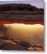 Washer Woman Arch Seen Through Mesa Metal Print