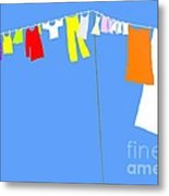 Washing Line Simplified Edition Metal Print