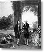 Washington And Lafayette, Mount Vernon Metal Print