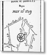 Washington: Book Of Surveys Metal Print