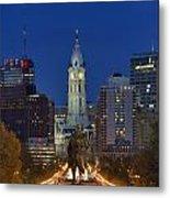 Washington Monument And City Hall Metal Print by John Greim