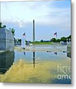 Washington Monument And The World War II Memorial Metal Print