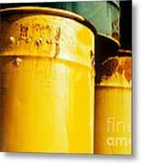 Waste Drums Metal Print