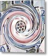 Wasting Money, Conceptual Image Metal Print