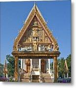 Wat Kan Luang Ubosot Gate Dthu181 Metal Print