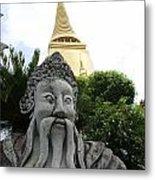 Wat Phrakaew Guardian Metal Print