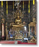 Wat Ratcha Orasaram Ubosot Interior Dthb859 Metal Print