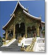 Wat Sen Dragons Metal Print
