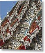 Wat Suan Phlu Ubosot Angel Gable Finials Dthb227 Metal Print