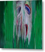 Watcher In The Green  Totem Series  Metal Print