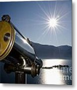 Watching With A Telescope Islands Metal Print