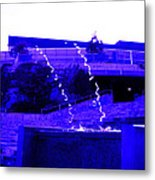 Water Art In Purple Metal Print