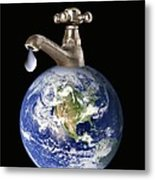 Water Conservation, Conceptual Image Metal Print