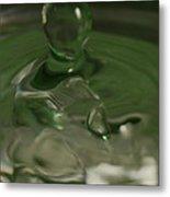 Water Drop Abstract Green 28 Metal Print