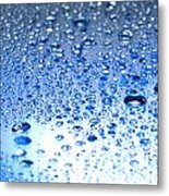 Water Drops On A Shiny Surface Metal Print
