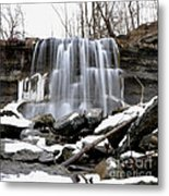 Water Falls At Rock Glen Metal Print