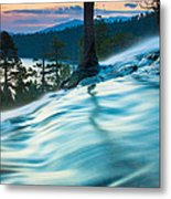Water Flow Above Emerald Bay Metal Print