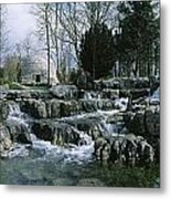 Water Flowing In A Garden, St. Fiachras Metal Print