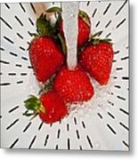 Water For Strawberries Metal Print