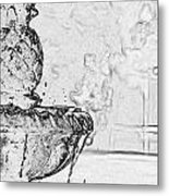 Water Fountain 1 Metal Print