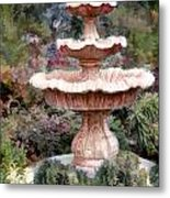 Water Fountain In  The Forest Metal Print