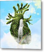 Water From The Heart Metal Print