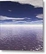 Water Horizon Metal Print
