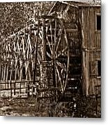 Water Mill In Action Metal Print by Douglas Barnett