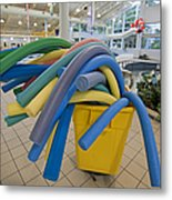 Water Noodles At A Public Swimming Pool Metal Print