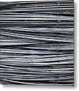 Water On Wire Metal Print