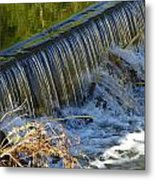 Water Over The Dam Metal Print