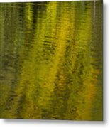 Water Reflection Abstract Autumn 1 A Metal Print
