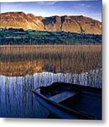 Water Reflections With Boat Metal Print