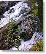 Water Running Down Ledge Metal Print