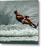 Water Skiing Magic Of Water 2 Metal Print by Bob Christopher